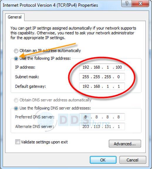 Đổi IP máy tính